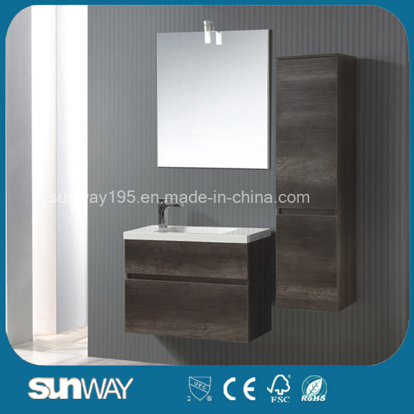 2016 Newest European Melamine Bathroom Cabinet with Mirror