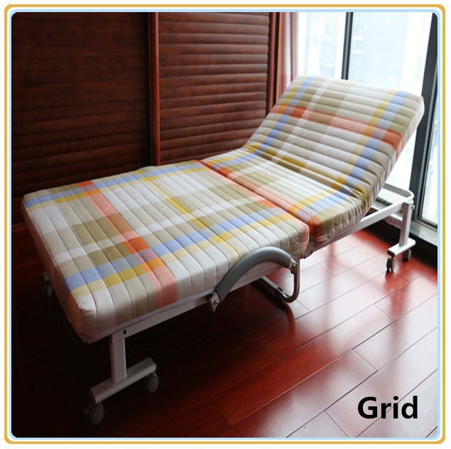 Folding Bed/Hotel Bed/Hospital Bed with Mattress 190*65cm Red Color