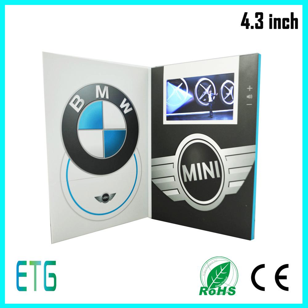 China Brochure Display Stand LCD Video Brochure Card Sample ...