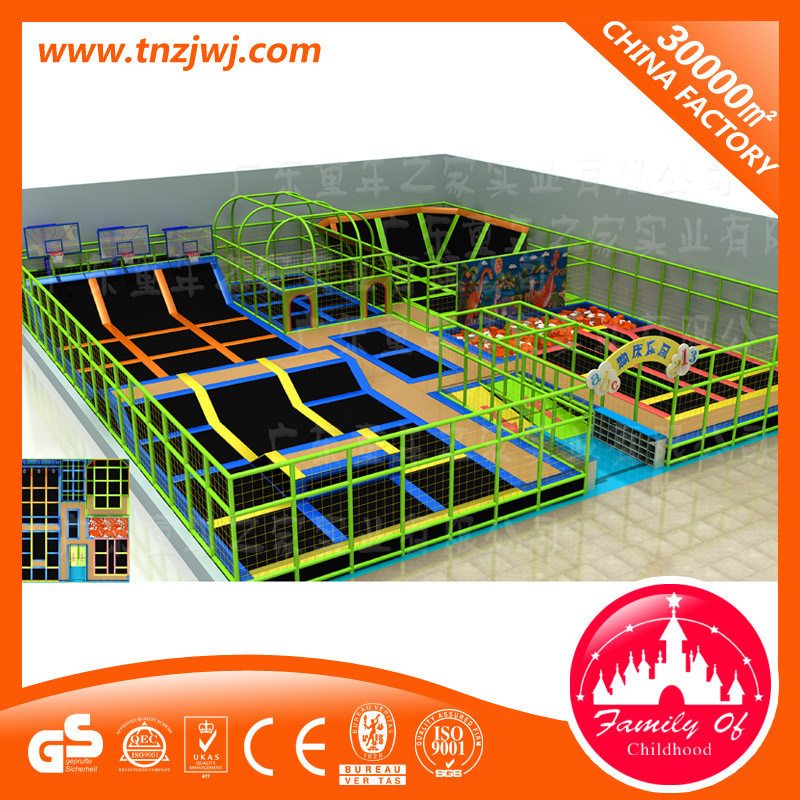 Children Amusement Trampoline Park Equipment with Safety Net