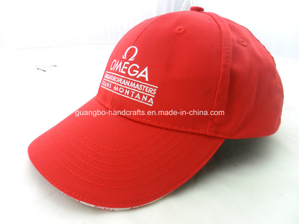 Hot Sale Fitted Red Design Promotion Sports Cap