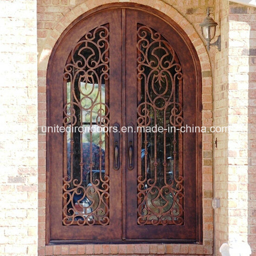 High Quality Round Top Wrought Iron Front Door (UID-D001)