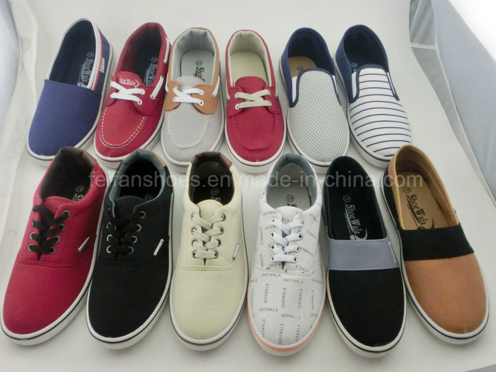 New Style Men′s Injection Canvas Shoes with Plenty Styles (PY16-03)