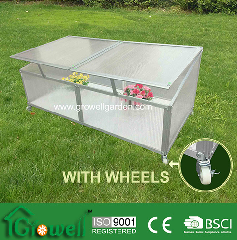 Cold Frame Greenhouse for Young Plants- with Wheels