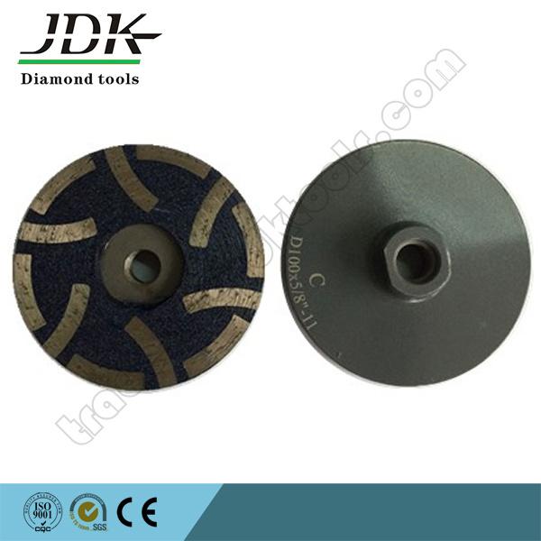 "100X5/8"" Diamond Resin Filled Cup Wheel for Granite Grinding"