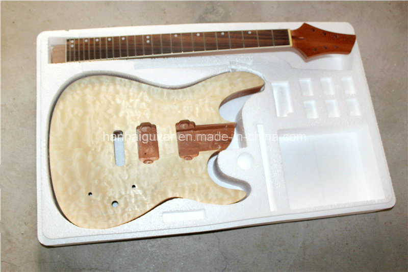 Hanhai Music / Prs Style Electric Guitar Kit with Magogany Body / DIY Guitar