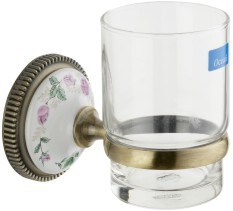 High Quality Bathroom Single Tumbler Holder with Glass Cup (JN17838)