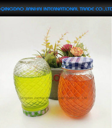 Great Gift Pineapple Style Mason Jar Drinking Glass