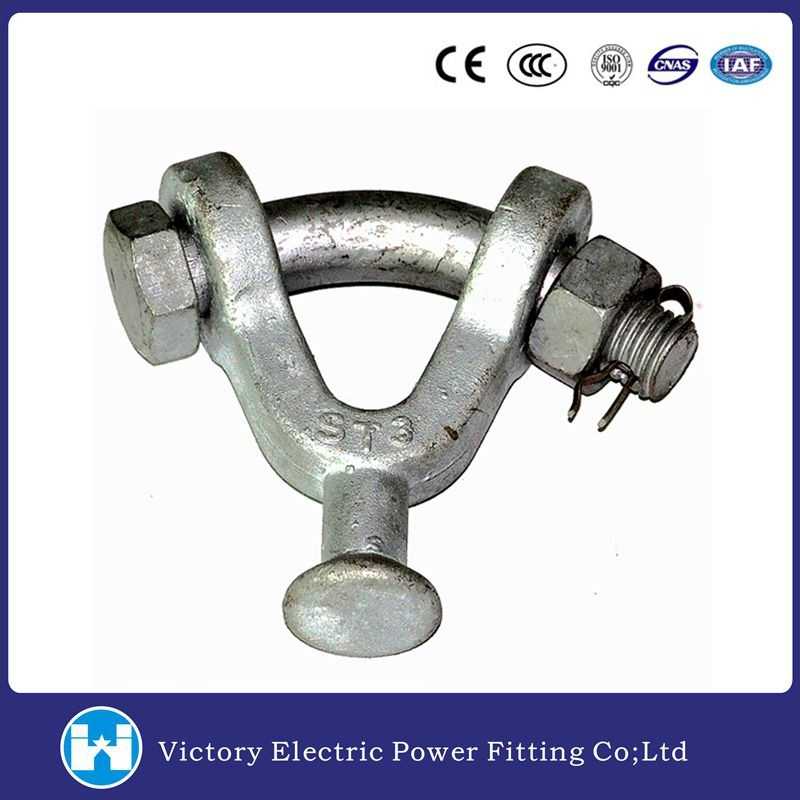 Hot DIP Galvanized Forged Carbon Steel Y Type Ball Clevis 30, 000 Lbs Pole Line Hardware
