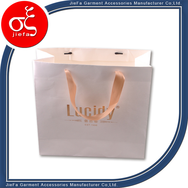 Custom Garment Paper Bag with Ribbon