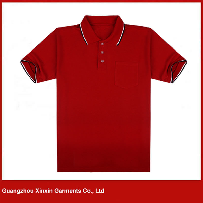 Custom Made Men′s High Quality Cotton Red Polo T Shirts (P171)