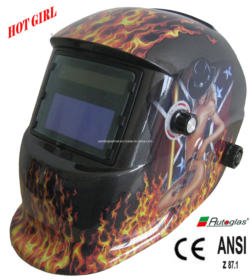 Hot Girl/AAA Battery/En379/Large Space Welding Mask (E1190TB)