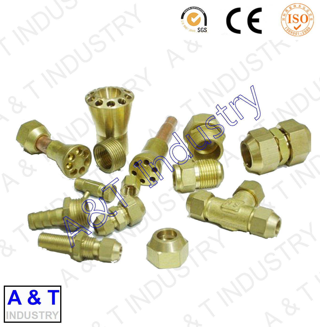 CNC OEM ODM Customized Brass/Aluminum/Stainless Steel Parts Brass Fitting