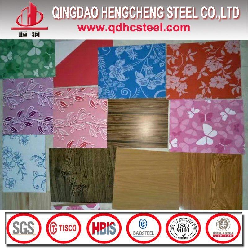Wooden Pattern Color Coated Steel Sheet/Flower Design PPGI