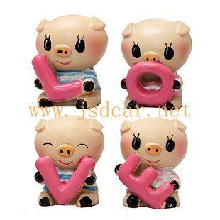 Car Interior Decoration Cute Little Pig Love (JSD-P0051)
