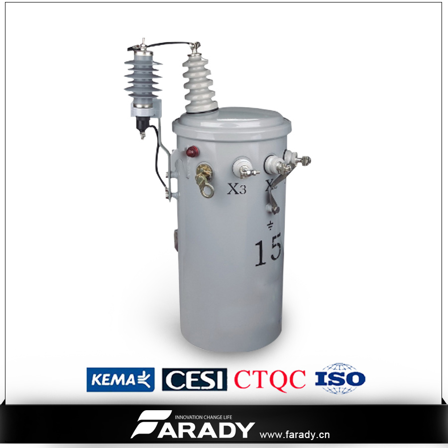 13.8kv 167kVA Pole Mounted Oil Type Completely Self Protection Transformer