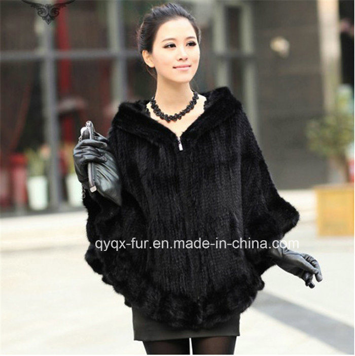 2015 Hot Sale Genuine Kintted Mink Fur Coat