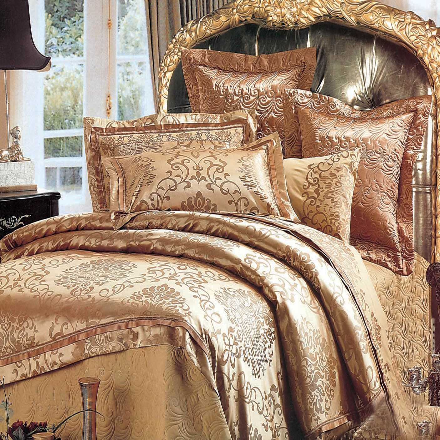 Cheap king size duvet, Buy Quality jacquard bedlinen directly from China cotton bedding set Suppliers: NEW Jacquard Bedlinen Queen King Size Duvet cover Set Imitation Silk Cotton Bedding Sets Luxury gold Colour UK FULL Size Enjoy Free Shipping Worldwide! Limited Time Sale Easy Return/5(44).