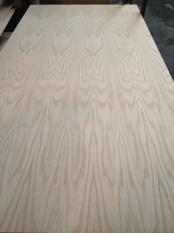 Natural American Red Oak Fancy Veneer MDF Furniture Use