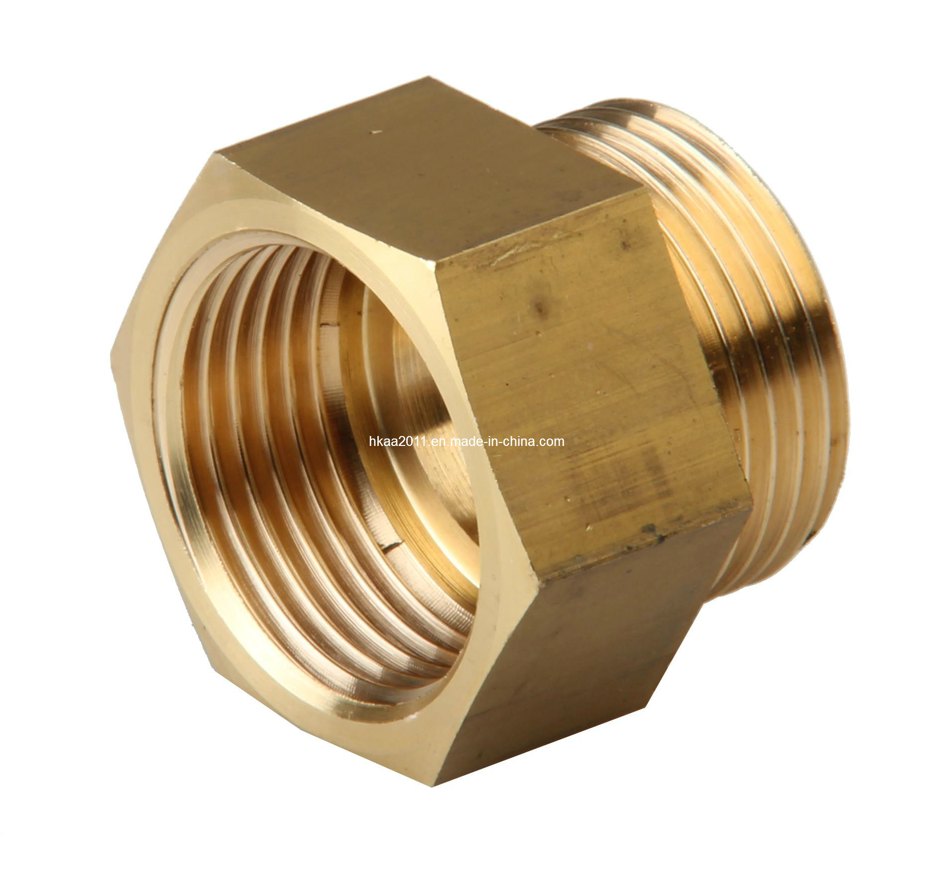 China brass bronze copper hexagonal reducing bushing