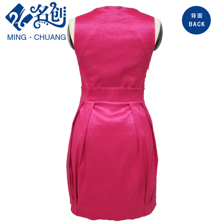 New Red Ladies Fashion Slim-Fit Dress Sleeveless