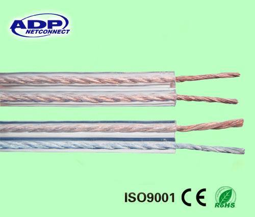 High Quality Transparent Speaker Cable /Acustic Cable 2c*0.5mm2~4.0mm2