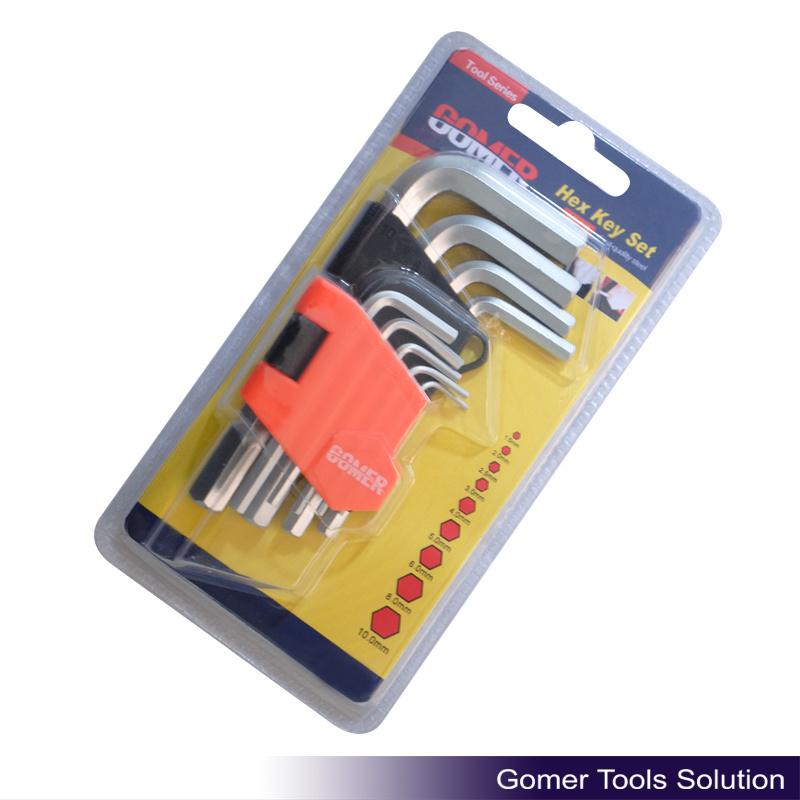 9PCS Hex Key for Hardware Use (T01380)