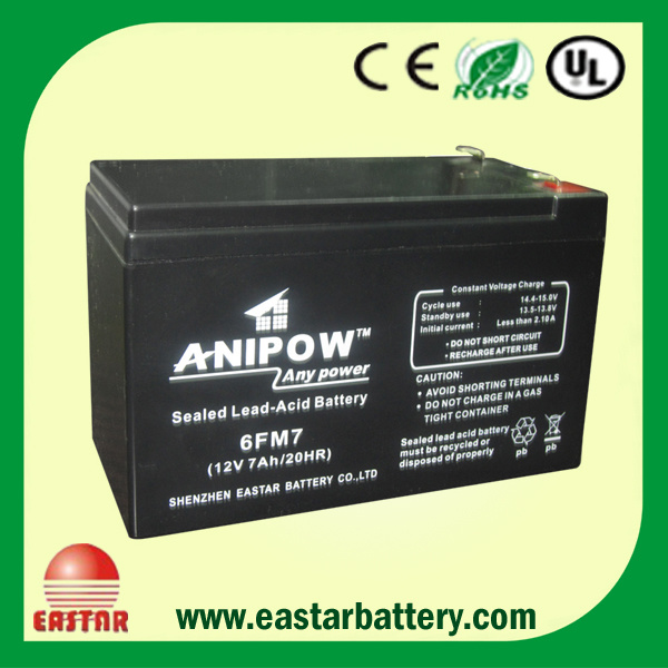 12V/7ah Deep Cycle Maintenance Free Lead Acid Battery for Solar Lighting