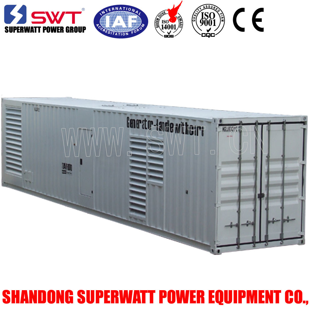 1000kVA-3300kVA Containerized Diesel Generator by Mtu/Cummins Engine Power
