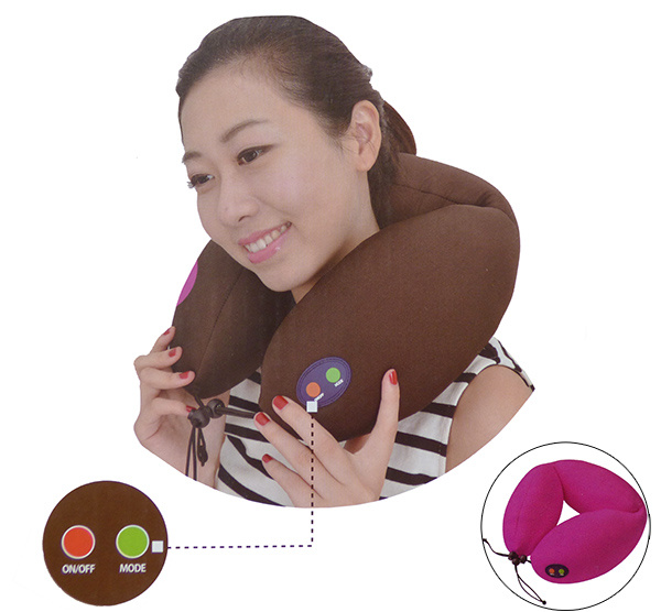 Electric Battery Operated Vibration Massager / Travel Neck Pillow