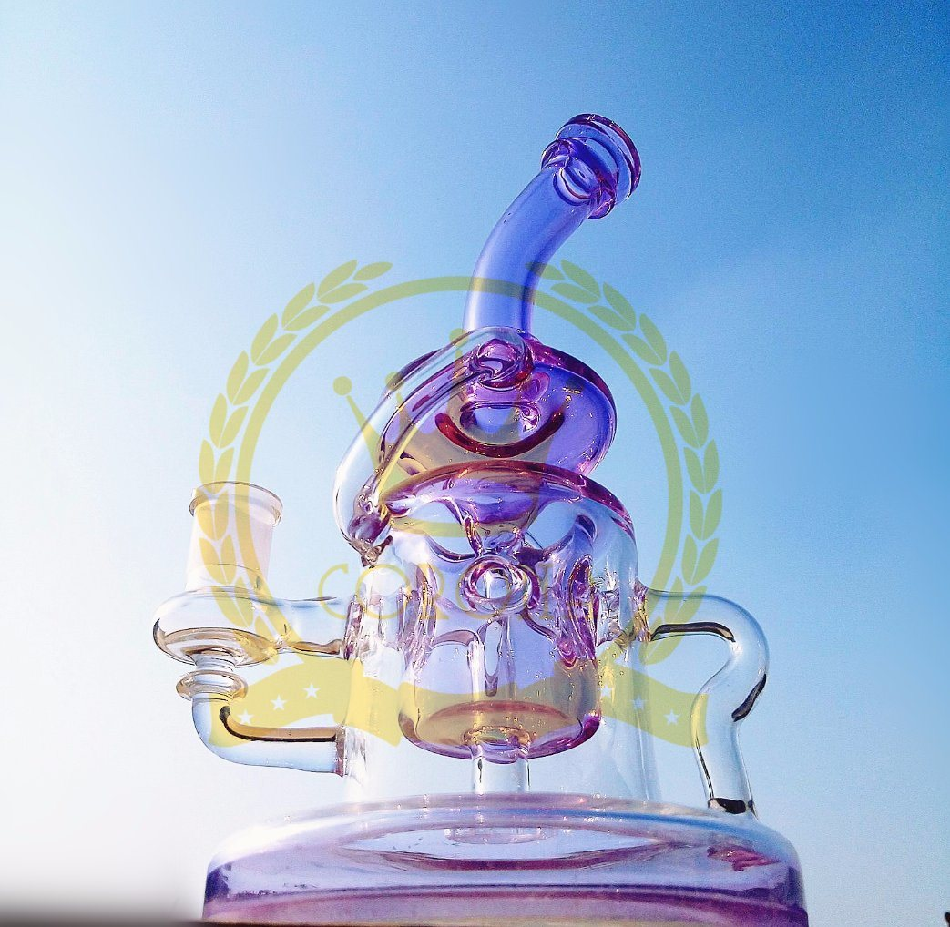 Glass Smoking Pipes Showerhead Bubbler Oil Rigs Thick Smoking in Stock Hand Blown Heady Tobacco Bubbler Wholesale