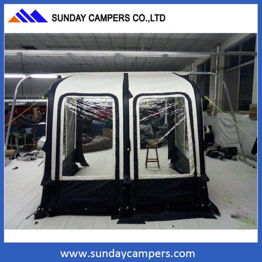 2 Front Door Caravan Porch Awning Inflatable Caravan Air Camping Tube Camper Tent for RV