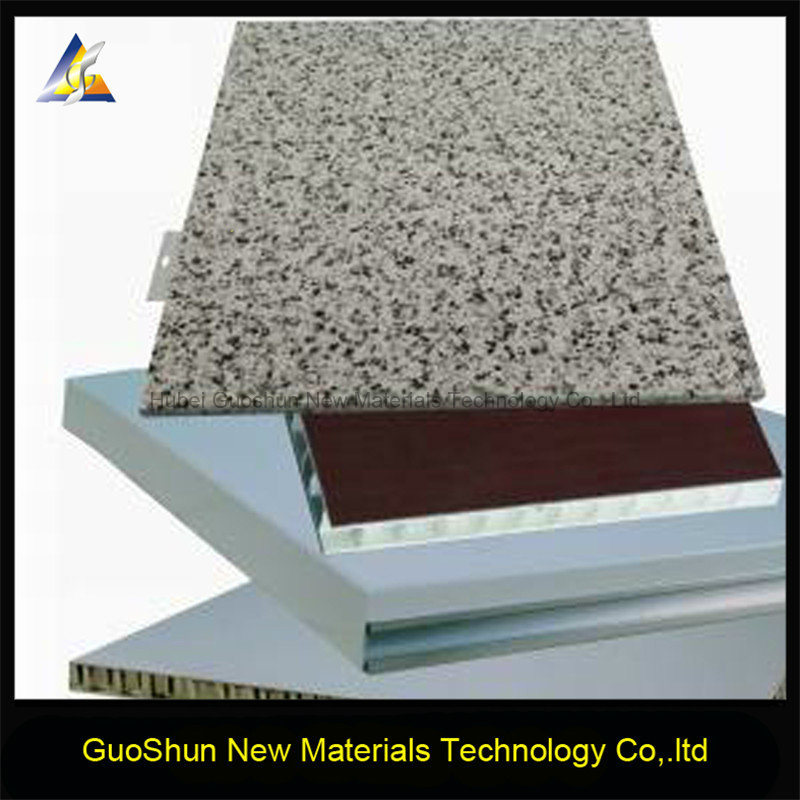 Decorative Marble and Rock Color Facade Cladding Aluminum Honeycomb Panel