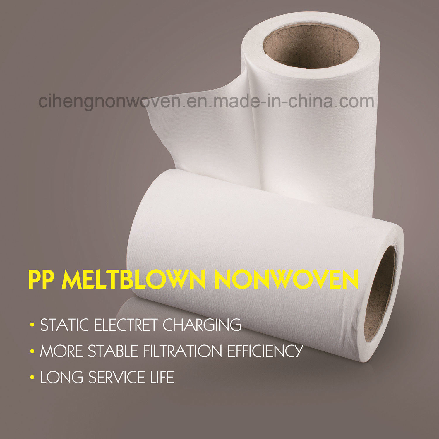 25GSM F9-H10 PP Meltblown Nonwovens Air Filter Media