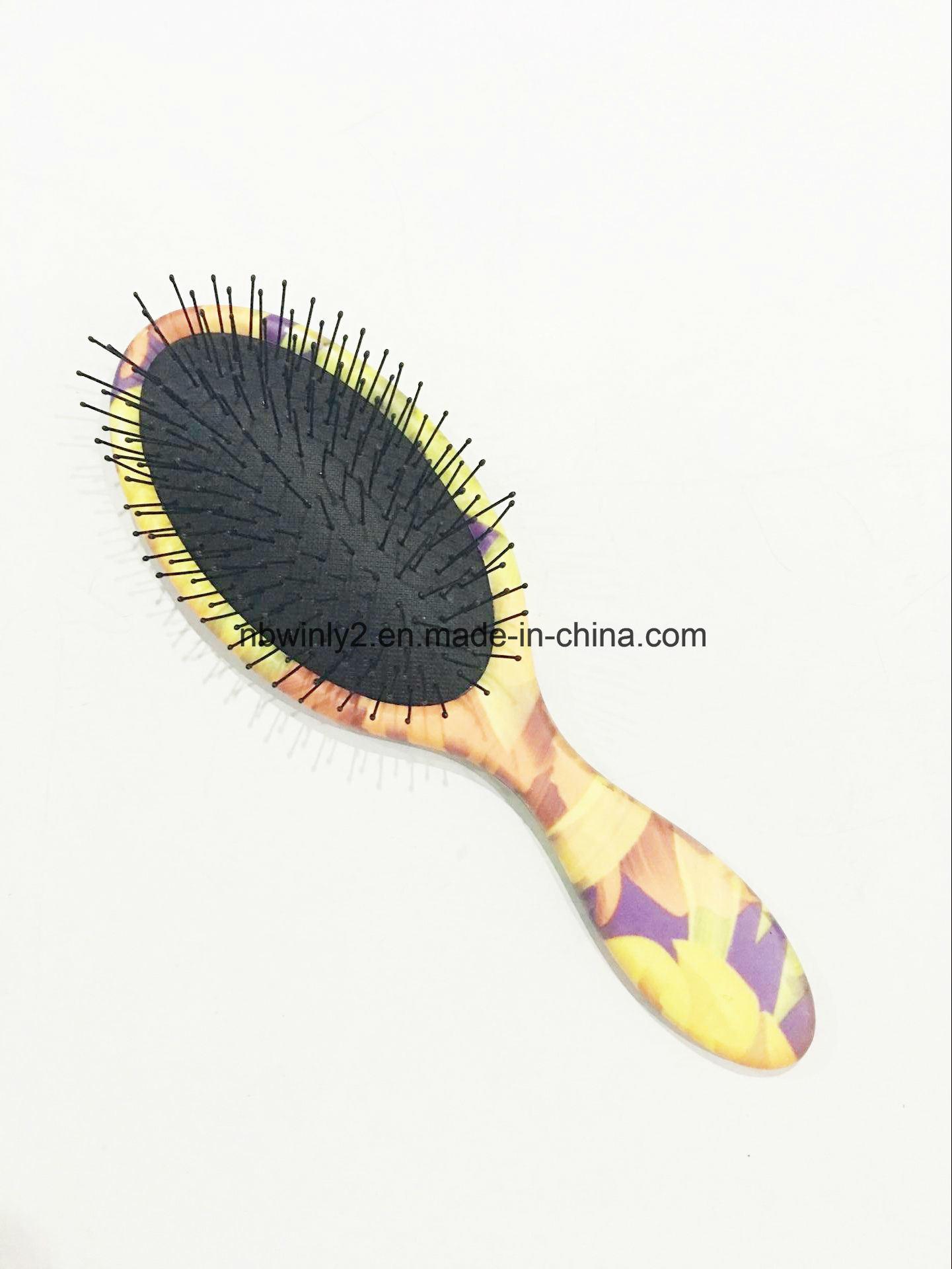 Metal Pin Mini Plastic Hair Brush
