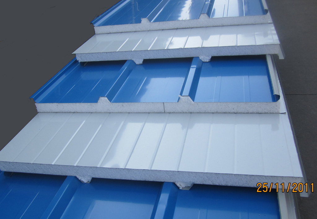 Sandwich Roof Construction : China roof sandwich panel blue white color
