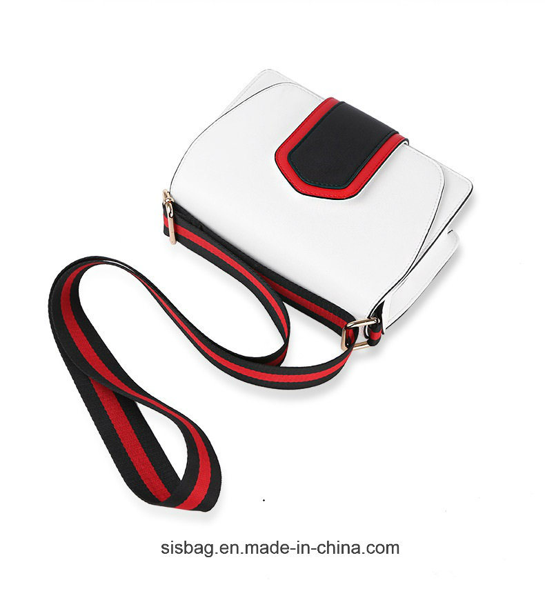 Stylish Contrast Color PU Crossbody Bag for Lady