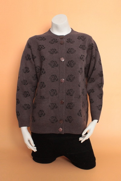 Yak Wool Cardigan Clothing Cashmere Garment/Knitwear Fabric/Wool Textile