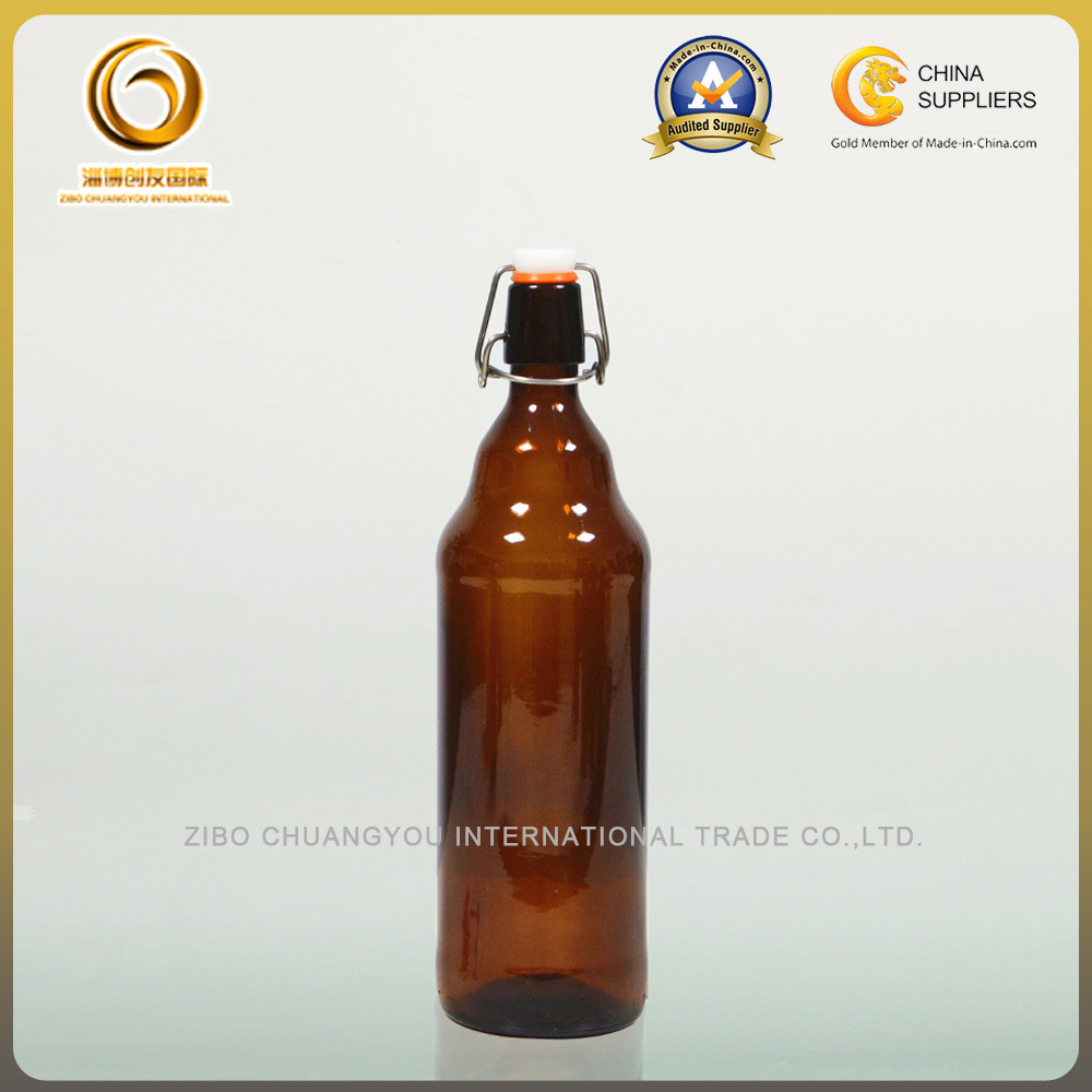 Flip Top 1000ml Glass Amber Beer Bottles (025)