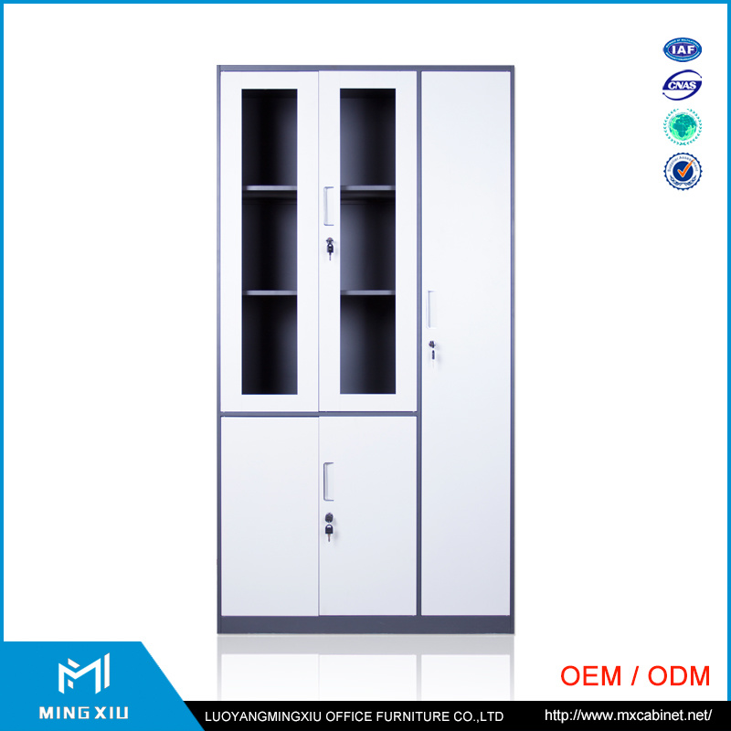 Henan Mingxiu Narrow Edge Glass Door Metal File Cabinet / Steel File Cabinet