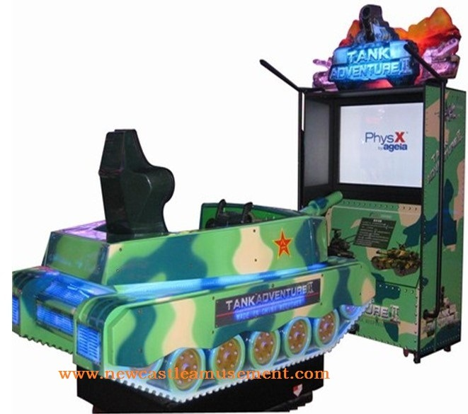 Amusement Game Machine Tank 2 Crazy and Stimulate Game Machine