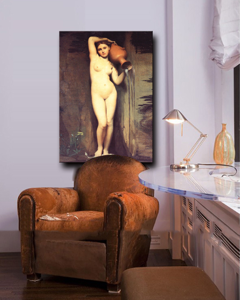 High Quality Handmade Modern Canvas Art Impressionistic Nude Woman Body Oil Painting