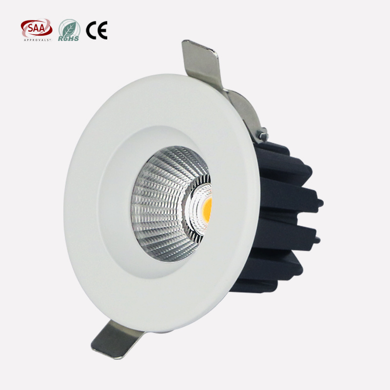 Best Selling Ce RoHS SAA Certified Recessed COB LED Downlight 7W 12W 75mm Cut Hole for Hotel