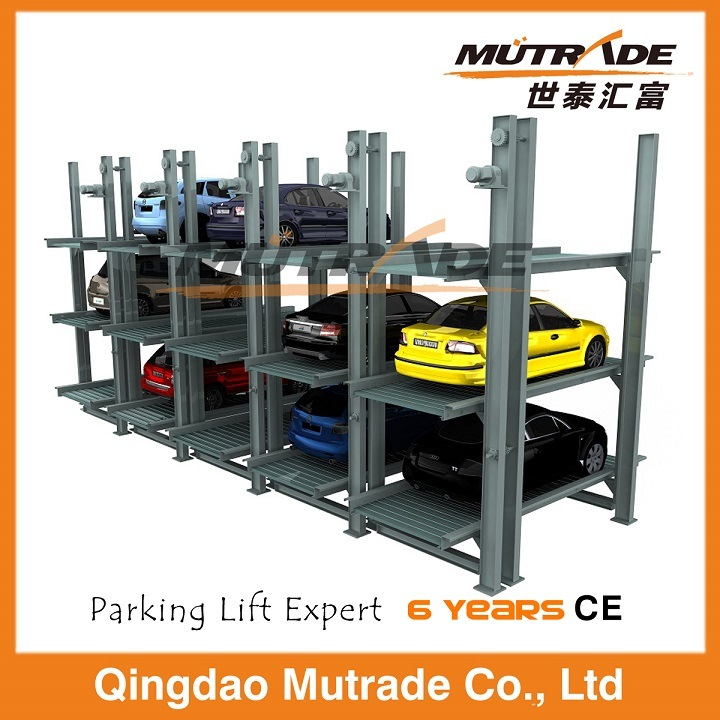 Pit Four Post Hydraulic Car Stacker for Parking