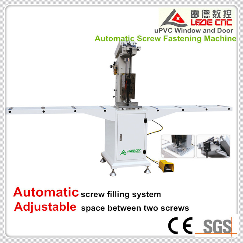 Automatic Screw Double Head Fasten Machine for UPVC/PVC Window