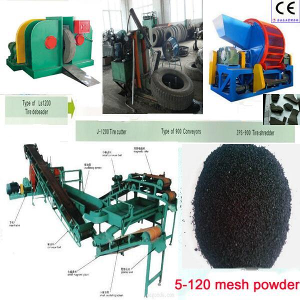 Waste Tyre Recycling Plant / Reclaim Rubber Machine / Used Tire Recycling Machine