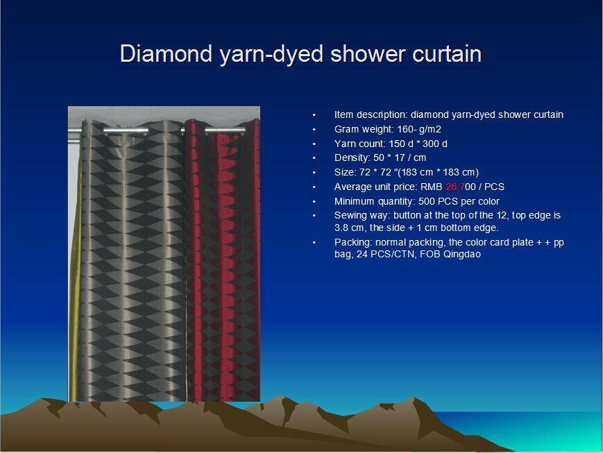 Diamond Yarn-Dyed Shower Curtain St1807