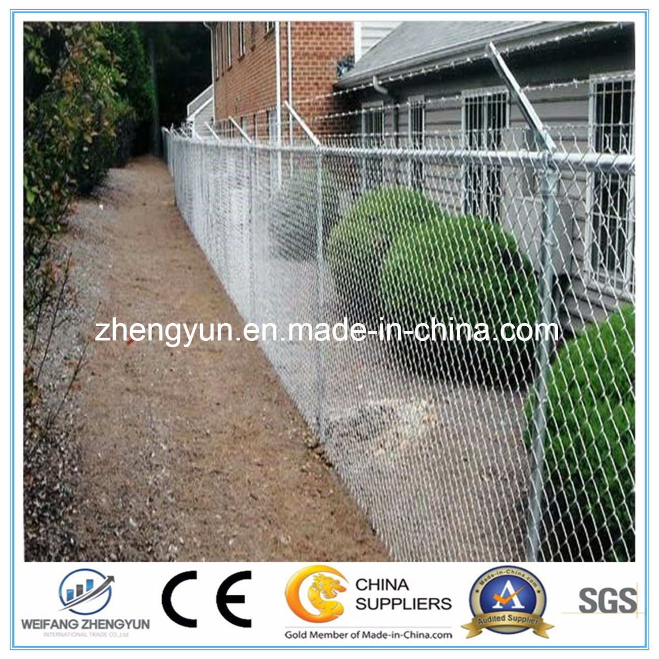 Hot Sale Galvanized Chain Link Wire Fence