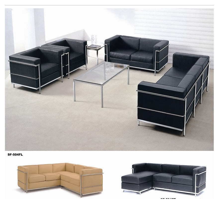 Modern Office Leather Sofa Set (SF-504)