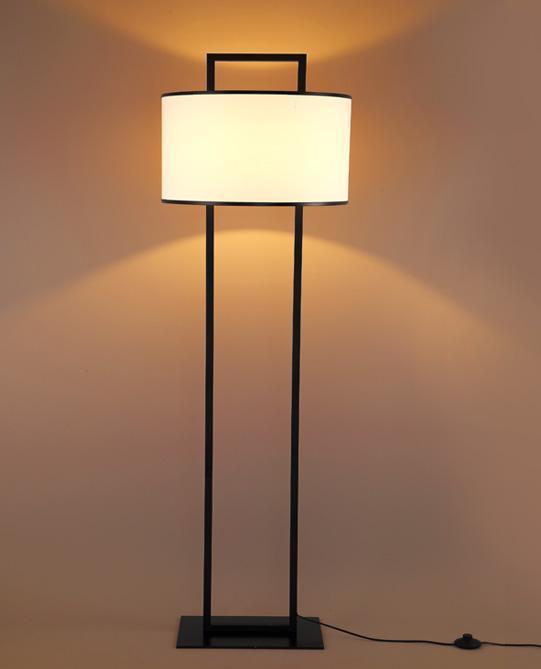 Metal Fabric Floor Lamp (WHF-461Z)